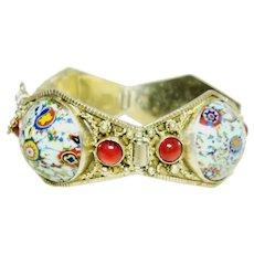 Vintage Millefiori Style Bracelet