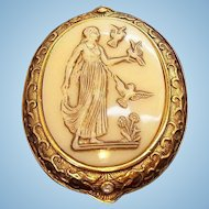 Vintage Helen Of Troy Edgar Berebi Limited Edition Cameo Style Brooch