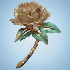 Vintage Rose Brooch The Rose of England  Princess Diana Commemorative