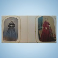 Victorian Embossed Leather Photo Album With 47 Photos Circa 1860's