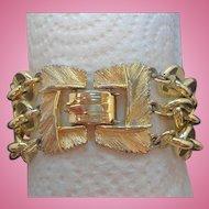 Vintage Lisner Goldtone Metal Multi Strand Bracelet