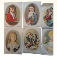 Vintage Cigarette Silks Lot of 9 Women & Children Portraits Scenes