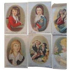 Vintage Cigarette Silks Lot of 9 Women & Children Portraits Scenes