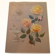 Vintage Card Because I Love you Darling A Special Wish For Your Birthday