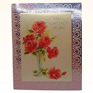 Vintage Card  A Valentine Honey for You Circa 1960s