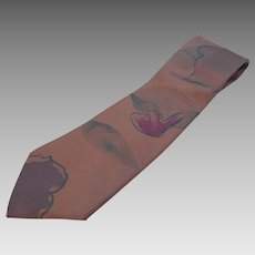 Vintage Fendi Roma Silk Tie  Abstract Designs