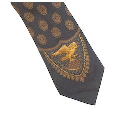 Vintage Polo Ralph Lauren Silk Tie Eagle Design New With Tags