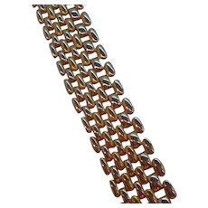 Vintage Sleek Goldtone Metal Bracelet