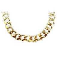 Vintage Goldtone Metal Chain Link Necklace