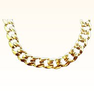 Vintage Goldtone Metal Chain Link Necklace