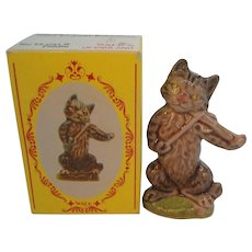Vintage Wade of England Large Cat in Fiddle  Original Box