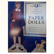 Molly McIntire The American Girls Paper Dolls  1992