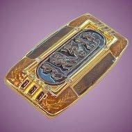 Vintage Edgar Berebi Habsburg Palace Goldtone  Enameled Brooch Limited Edition