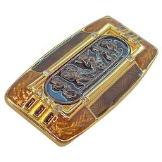 Vintage Edgar Berebi Habsburg Palace Goldtone  Enameled Brooch Limited Edition