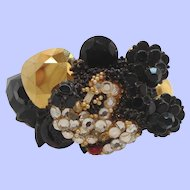Wendy Gell Dimensional Mickey Mouse Rhinestone Wristy Cuff Bracelet