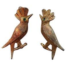 Vintage AJC  Goldtone Woodpecker Birds Scatter Pins
