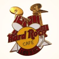 Hard Rock Cafe London Drum Set Enameled Souvenir Pin