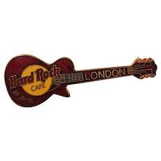 Hard Rock Cafe London Enameled Guitar Souvenir Pin
