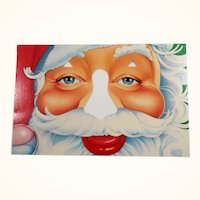 Funny Santa Cut Out Nose Card Unused  Bette Levine 1984