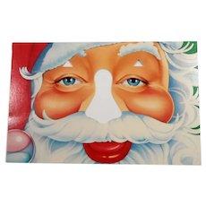 Funny Santa Cut Out Nose Card Unused  Bette Levine 1984