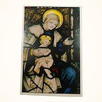 Epiphany Window Bethlehem Chapel Washington Cathedral Original Vintage Postcard First Day Issue