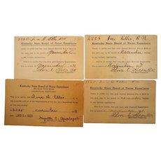 Kentucky State Board of Nurse Examiners Renewal Cards  Nurse Memorabilia