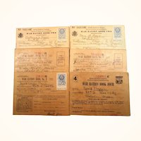 War Ration Books, Coupons, Extras  Family Collection of Seven Books