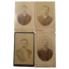 Cabinet Card Photographs Portraits Four Handsome Men From Texas