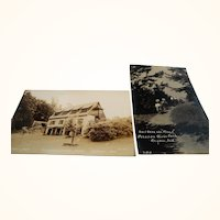 Two Souvenir Travel Unused Photograph Postcards  Pokagon State Park