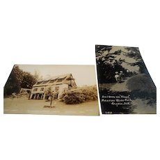 Two Souvenir Travel Unused Photograph Postcards  Pokagon State Park