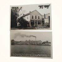 Two Unused Photograph Postcards  North Port Michigan