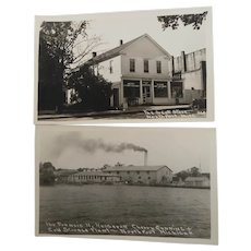 Two Unused Photograph Postcards  North Port Michigan
