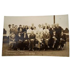 Photo Post Card Thorton Minor Dismissal Class October  1935