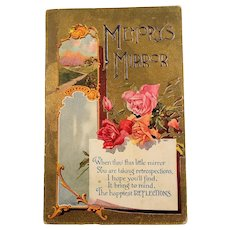 Red Pink Roses Memory's Mirror Post Card