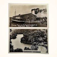Two Travel Souvenir Photo Postcards North Point Michigan Zalenski State Forrest