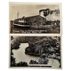 Two Travel Souvenir Photo Postcards North Point Michigan Zalenski State Forrest