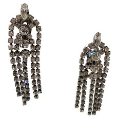 Chandelier Dangle Drippy Shoulder Duster Clip On Earrings