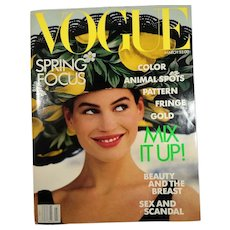 Vogue Magazine March 1989