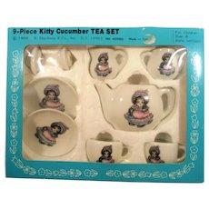 Kitty Cucumber Nine Piece Tea Set Mint in Box 1984