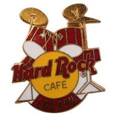 Hard Rock Cafe London Drum Set Enameled Souvenir Pin
