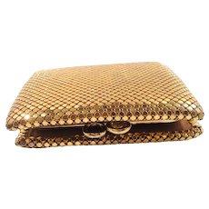 Goldtone Metal Mesh Change Purse Wallet