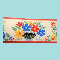 Dex Screen Printed Wallpaper Border Flowers  NOS  New Old Stock