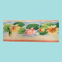 Pink Green Water Lillies  Dex Wallpaper Border