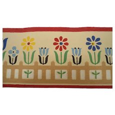 Dex Wallpaper Border Tulips Flowers Picket Fence