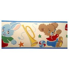 Dex Screen Printed Wallpaper Border  Doll Teddy Bear Duck Bunny