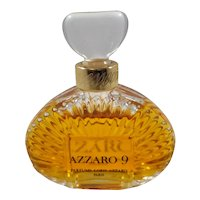 Azzaro 9 Parfum Bottle Almost Full  Rare Discontinued in Display Box