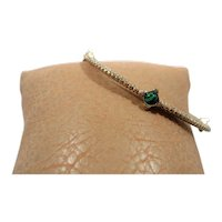 Thin Textured Goldtone Bangle Small Cabochon Stones