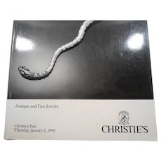 Christies Antique and Fine Jewelry Auction Catalog 1990