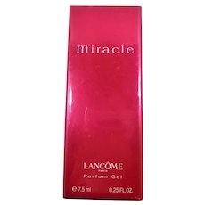 Miracle Lancome Paris Perfume Gel Sealed Vintage Box