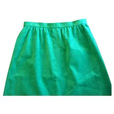Retro Apple Green Ultra Suede A Line Skirt Circa 1970s
